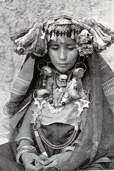 Africa | Jewish Berber Woman. Sous region, Morocco | Photographer unknown