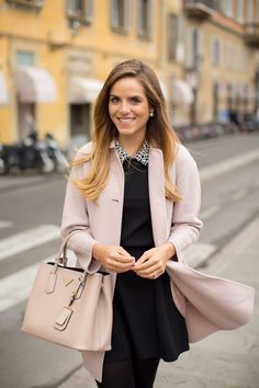 Just A Girl In Her Pink Coat - Gal Meets Glam