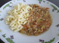 Mleté mäso so zeleninou a cestovinou - Jedlá a recepty pre deti - Receptypredeti.eu