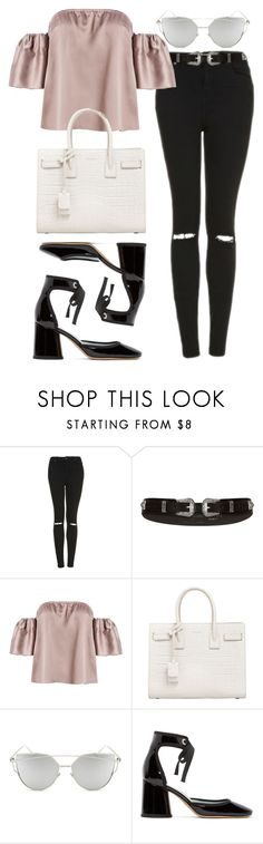 """""""Untitled #457"""" by allysa-bojador on Polyvore featuring Topshop, River Island, Yves Saint Laurent, Chicnova Fashion and Marc Jacobs"""