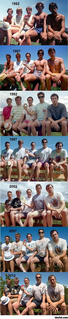 The evolution of a group of friends - DayLoL.com - Your Daily LoL!