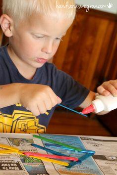 Idea for the kids to make using craft sticks