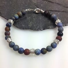 Dumortierite and silver bracelet £35.00