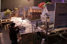 Great behind the scenes photos at Laika, on the set of their new stop motion animation, Paranorman. Good article too.