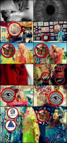 """An abundance of symbolism relevant to MK-Ultra mind control, which is implemented through brutal Monarch Programming, was incorporated within Ke$ha's newly released music video for her single """"Praying"""" including a multitude of butterflies, disfigured mannequins and masked handlers as well as designs identical to what the FBI's Intelligence Reports identify as pedophilic symbols. Occult imagery such as the Eye Of Providence and the Masonic Checkerboard were concealed within the video as well."""