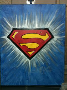 Superman Painting 16in x 20in Acrylic Paint on Canvas for sale $140 Artist: Jerome Castro