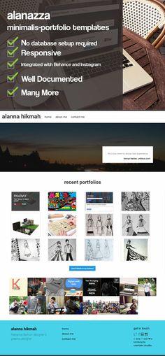 alanazza - Minimalist Portfolio HTML. HTML/CSS Themes. $13.00