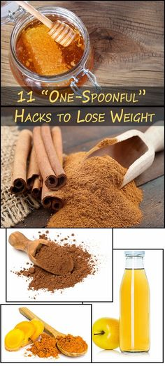 Skin Care And Health Tips: 11 \u201cOne-Spoonful\u201d Hacks to Lose Weight #weightlossfast
