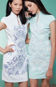In the mood for qipaos - Discover Shanghai Tang's collection of modern qipao or cheongsam dresses. Cheongsam Modern, Preteen Girls Fashion, Cheongsam Dress, Dress Making Patterns, Japanese Outfits, Shanghai Tang, Bridal Dresses, Maxi Dresses, Ball Gowns