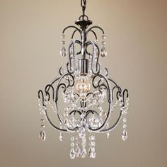 "Taylor Bronze 12 1/2"" Wide 3-Light Mini Chandelier - #31146 | LampsPlus.com"