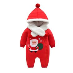Hooded Warm Kit Newborn Girl Baby Rompers Clothes Winter