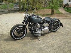 Harley-Bobber Softail - Cheap-ASS-Bobber Umbauten #harleydavidsonbobberdyna
