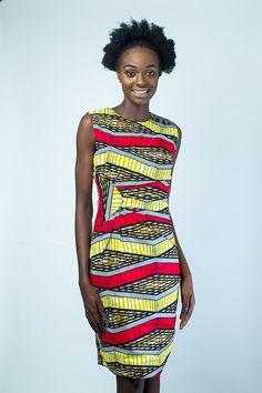 Bonjour Afro chic women wax print midi dress