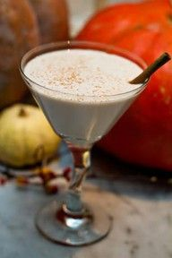 Vanilla Chai Martini: 1 oz prepared chai tea mix 1 oz half & half 1 oz vanilla vodka ground cinnamon for sprinkling