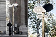 Paris installs solar-powered street lights that resemble trees