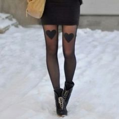 Simple heart tights Cute Tights for Cute Ladies