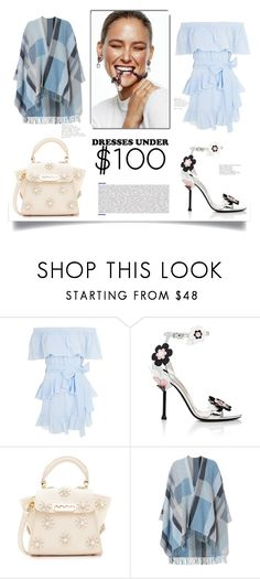 """Dresses Under $100"" by nahed-samir ❤ liked on Polyvore featuring Topshop, Prada, ZAC Zac Posen and Holzweiler"