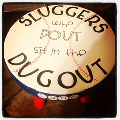 Personalized Timeout Stools by TNTstools on Etsy, $60.00....i can so make this lol