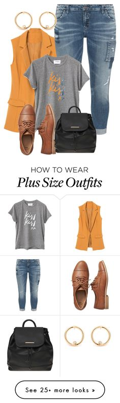 """Plus size college chic"" by xtrak on Polyvore featuring Silver Jeans Co., Gap and Dorothy Perkins"