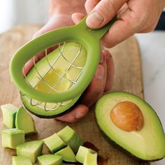 """AVOCADO CUBER by Williams-Sonoma  (given the fact that I just cut my finger badly the other day while cutting an avocado, perhaps I should put this """"cuber"""" onto a """"need"""" list, not a """"wish"""" list!"""