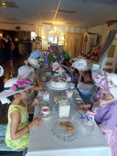 A fancy tea party hat for each little girl