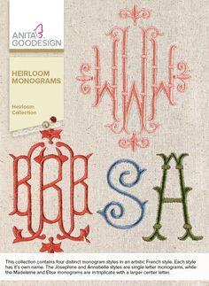 Anita Goodesign   Heirloom Monogram