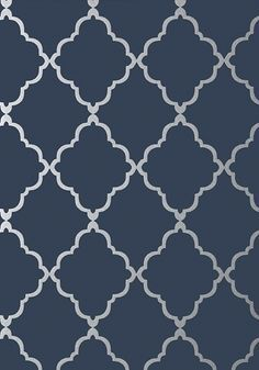 Klein Trellis - Silver on Navy wallpaper, from the Seraphina Wallpaper collection by Anna French Klein Trellis - Metallic Gold on Aqua wallpaper, from the Seraphina Wallpaper collection by Anna French Royal Blue Wallpaper, Anna French Wallpaper, Silver Wallpaper, Damask Wallpaper, Wallpaper Online, Modern Wallpaper, Blue Wallpapers, Designer Wallpaper, Wallpaper Designs