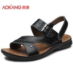 58a68f749 Fair price AOKANG 2017 Summer Sandals Men Designers Sandalias Hombre Beach  Shoes Men S Sandals Brand Leather