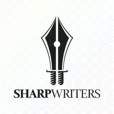 Sharp Writers logo. Swords and pens together? :D nice