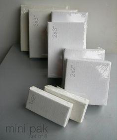 Mini Canvas Pak  Set of 8 Blanks by grafix on Etsy, $24.00