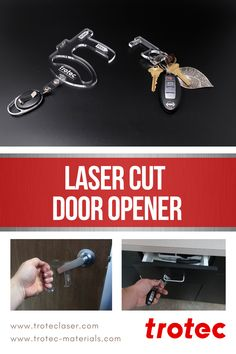 We are continuously inspired by all of the work that laser users are doing to combat Laser Dave's latest application is two in one; a hand and finger hook to open doors and drawers without touching them. Trotec Laser, Laser Cutting, Drawers, Finger, Hands, Doors, Personalized Items, Inspired, Diy