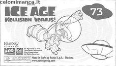 L'era glaciale - In rotta di collisione: Retro Figurina n. 73 -