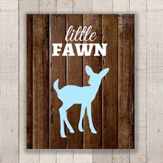 Baby Boy Nursery Deer Print - Blue Little Fawn Woodland Wall Art - Country Rustic Nursery Print - Boy Home Decor - New Baby Shower by NorthernRustication on Etsy