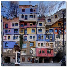 Hundertwasserhaus house, Viena Áustria