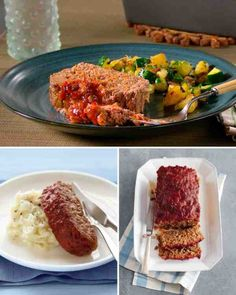 Meatloaf recipe from Martha Stewart's mom....includes diced veggies in the meatloaf.