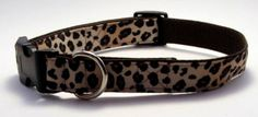 Cheetah Print Dog Collar MediumLarge Extra by KibblesandCollars