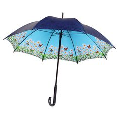 Showcasing a charming springtime-inspired interior, this lovely umbrella brings a bright touch to stormy days.   Product: Umbre...