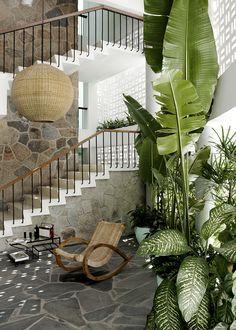 Hotel Boca Chica in Acapulco Est Living Home Interior, Interior Architecture, Interior Decorating, Interior Design, Outdoor Spaces, Outdoor Living, Outdoor Decor, Outdoor Furniture, Resorts