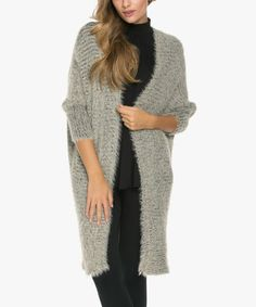 Another great find on #zulily! Taupe Long Cardigan #zulilyfinds