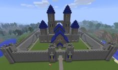 Minecraft: Castle W. by on DeviantArt - Minecraft World 2020 Minecraft Mountain Castle, Minecraft Castle Designs, Minecraft Castle Walls, Minecraft Castle Blueprints, Minecraft Plans, Minecraft Tutorial, Cool Minecraft, Minecraft Creations, How To Play Minecraft