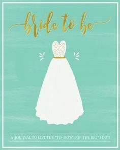 Bride to Be A Wedding Planning Journal to List the ToDos for the Big I Do The Perfect Engagement Gift or Bridal Gift for the Future Mrs for Wedding Planning Scheduling  Organizing >>> Visit the image link for more details. #WeddingGift