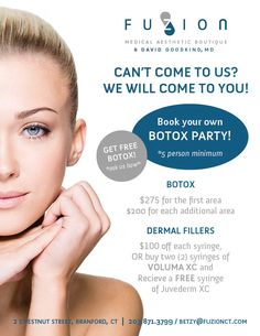Host your own Botox Party at FUZION Medical Aesthetic Boutique