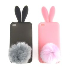$8.99 4th gen 2 Cases for Apple iPod Touch Bunny Skin Cases, Pack of 2: Smoke & Pink [Cellular Connection Packaging] by Cellular Connection, http://www.amazon.com/dp/B00B8ZB6NG/ref=cm_sw_r_pi_dp_c2bjrb1JP55Q2