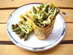 Tortillas con asparagi e porri alla griglia on http://www.unocookbook.com