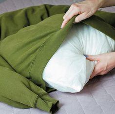 Como fazer uma cama para cachorro usando moletom velho - Casa