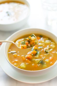 Zucchini Summer Soup | Added 1/3 c of orzo, increased zucchini to 1 c, and increased broth to 6 c with 1.5 tbsp of bouillon paste