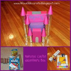 { Life Well Decorated }: Princess Castle Valentine's Box