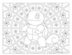 Adult Pokemon Coloring Page Squirtle