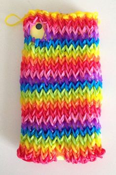 Crazy Rainbow Patterns | Rainbow Loom Phone Case Tutorial by Amanda Kingloff from Parents.com