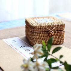 Desktop storage box handmade rattan cane Vietnam autumn portable storage box storage box jewelry box tea with zero Desktop Storage, Box Storage, Tea Box, Rattan, Vietnam, Jewelry Box, Zero, Decorative Boxes, Dining Room